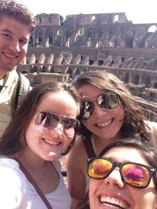 Selfies at the Colosseum, obviously